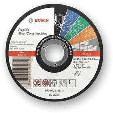 Bosch Rapido Multiconstruction Thin Cutting Discs 115mm