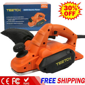 650W Portable Electric Wood Planer 3-1/4'' Hand Held Woodworking Power Tool