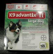 K9 ADVANTIX II for Large Dogs 21-55 lbs 4PK (4 Doses) !!! US EPA APPROVED !!!