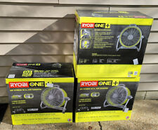 RYOBI 18 In. Air Cannon Drum Fan 18-Volt ONE+ Hybrid Head Rotation Garage Shop