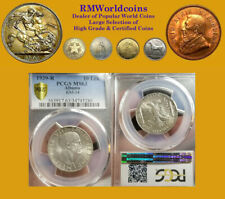 Albania 1939 10 Lek, Rare High Grade PCGS 63, Key Date Low Mintage