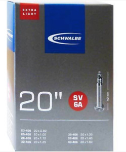 Schwalbe SV6A Extralight Inner Tube 20 x 1 1/8 to 1 3/8 40mm Presta