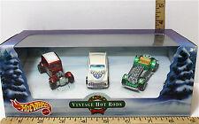 Hot Wheels Vintage Hot Rods Christmas 2000 Mattel 3 Car Set Holiday Die Cast NIB