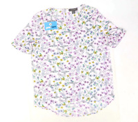 Primark Womens Size 12 Floral White Hummingbird Blouse (Regular)