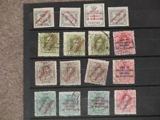 Spain-Overprints (Duplicates), ( top 4 are mint-3 NH) used