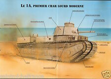 Armored 1 A FCM 2 C Renault WWI  WWII  FICHE CHAR TANK