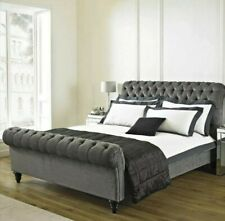 NEW chesterfield sleigh bed Upholstered Curved Style