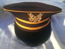 Vintage Marching Band Hat Uniform Ostwald Black & Gold Eagle Wool Sz 73/8 Lg Ovl