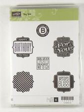 NEW Stampin' Up! TAG TALK Stamp Set Birthday Baby Congrats Bravo Wedding