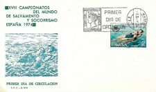 SPAIN 1974 FIRST DAY COVER, LIFE SAVING, SWIMMING