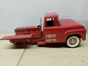 Vintage Structo Ready Mix Truck Pressed Steel Parts / Rebuild