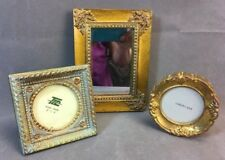 Group of 3 Miniature Gold Gilded Frames (2) & Mirror (1) Including Larson Juhl