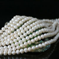 """Wholesale AAA++ Natural Real White Freshwater Pearl Roundish Loose Beads 15"""""""