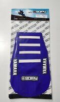 LOGO ENJOY MX Ribbed Seat Cover Blue White Ribs Yamaha YZ 125 250 1996 - 2001