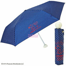 JAPAN SNOOPY & FRIENDS UV-COATING 3 FOLD POLKA DOTS UMBRELLA W/ BAG 825389