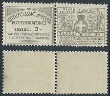 1936 REGNO FRANCOBOLLI ASSICURATIVI 3 LIRE MNH ** - E92