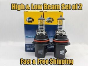 High & Low Beam Headlight Bulb For Dodge Caravan 1996-2007 Set of 2