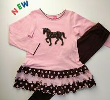 Toddler Kids Girls Clothes Size 5 NWT Good Lad Pink Horse Leggings Outfit