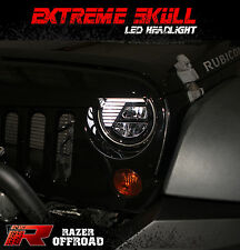 Street Legal Black LED Headlight DRL+Hi+Lo Beam+Cree For 07- 18 Jeep JK Wrangler