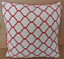 "Pier 1 Red / White Pattern Indoor/Outdoor Pillow 23"" x 23"": Excellent Condition"