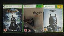 Xbox 360 Batman Origins Arkham City + + Arkham ASYLUM PAL COMPLETA