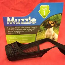 Dog Muzzle Size 1 Black Padded Nylon 12 Cm Jack Russel Whippet Cavalier Spaniel
