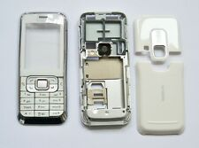 White Housing cover Case fascias facia faceplate For Nokia 6120 6120 Classic
