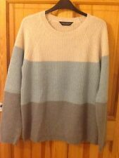 Dorothy Perkins block stripe jumper size 10, grey, new
