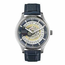 Automatic Self Wind Watch Winder Cccp Men's Sputnik-2 Cp-7026-0A Silver Leather