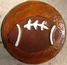 Football 8 plaque, stepping stone,  plastic mold, concrete mold, cement, plaster