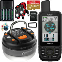 Garmin GPSMAP 66sr Handheld Outdoor GPS GNSS Multi Band US & Canada Maps Bundle
