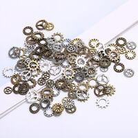 100Pcs Antique Steampunk Mini Wheel Gear Charms Pendant DIY Jewelry Making Craft