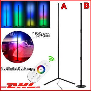 LED Design Stehlampe Ecklampe Deckenfluter Stehende RGB mit Fernbedienung DHL