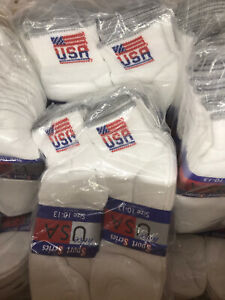 NEW Lot of 48 Pairs Mens Sports Socks Cotton Size10-13 Wholesale