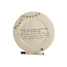 Baby Shower Gift Signature Plate Round Bunting
