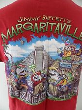 Margaritaville Cancun Mexico Chichen Itza Jimmy Buffett Large T Shirt EUC Parrot