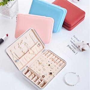 Portable Girl Earring Box Organizer Large Capacity Necklace Jewelry Storage Box