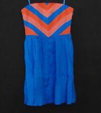 Cooperative Urban Outfitters Chevron Strapless Side Zip Mini Dress Size 4
