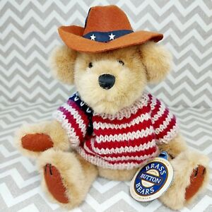 Bear Of Friendship Jointed 96 Pickford Ltd Cody The Brass Button Bear Collection