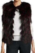 GORGEOUS NWT Haute Hippie Fox-Fur Vest Merlot/Black Size M $ 1,095 Sold Out
