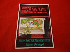 Boogerman Super Nintendo SNES Vidpro Promotional Shelf Display Card ONLY