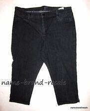 NYDJ Not Your Daughters Jeans Womens 14 Black Denim Capris Crop