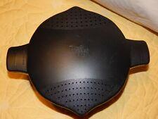 Pampered Chef #2778 Black 8 Cup 2 Quart Large Microwave Steamer Pot Strainer Ex