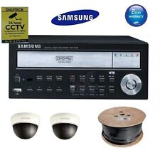 Samsung CCTV Package 1x DVR 2x Camera Home Security Kit Surveillance Cables PSU