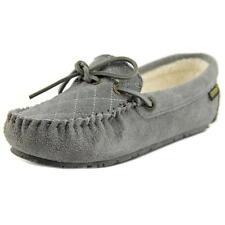 Pantofole da donna grigia, con 100% pelle