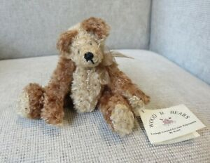 COLLECTOR UNIQUE HAND MADE ARTIST BEAR – 'RUSKY' by Kerri Woods of Wood B Bears