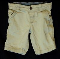 Boys M&S Light Stone Grey Adjustable Waist Chino Denim Shorts Age 3-4 Years