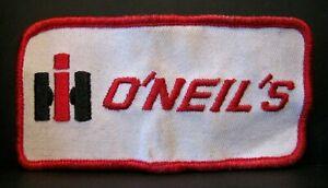 IH International Harvester O'NEIL'S Dealer Hat Employee Shirt Embroidered Patch