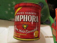 Amphora Pipe Tobacco 6 oz Metal Tin Empty Made by Douwe Egberts Royal Factories