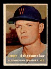 1957 Topps #334 Jerry Schoonmaker EXMT/EXMT+ X1321135
